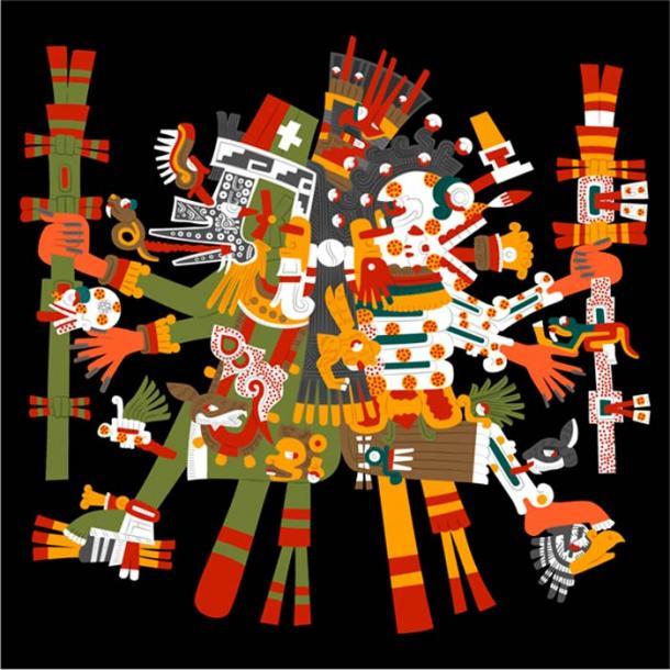 Mictlantecuhtli, dios de la muerte, el señor del inframundo y Quetzalcóatl, dios de la sabiduría, la vida, el conocimiento, la estrella de la mañana, patrón de los vientos y la luz, el señor de Occidente. Juntos simbolizan la vida y la muerte. (Gwendal Uguen / CC BY-SA 2.0)