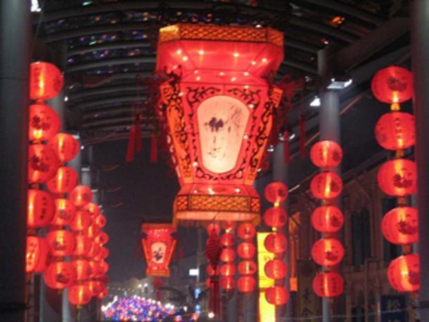 Festival del Medio Otoño linternas en Chinatown, Singapur. (I64s / CC BY-SA 3.0)