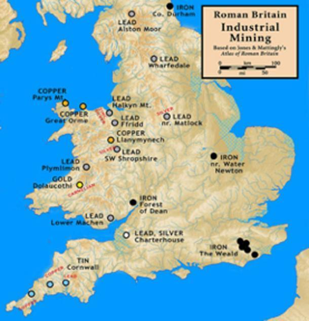 La minería en la Gran Bretaña romana. (Notario / CC BY-SA 3.0)
