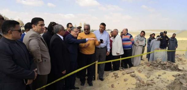 El Ministerio de Antigüedades de Egipto está investigando el colapso del monasterio de Saint Fana. (Youssef Sidhom)