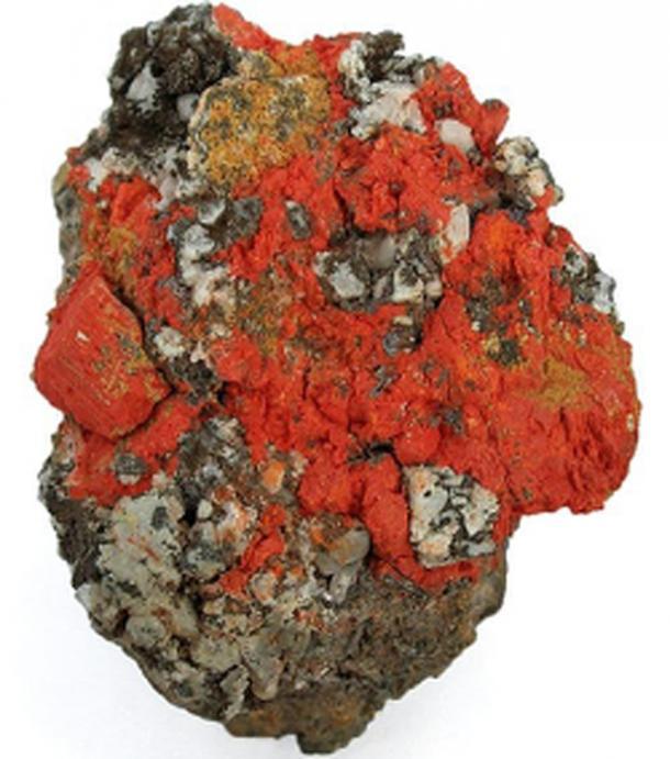 Minium se utilizó en papiros antiguos para producir una tinta roja. (RKBot / CC BY-SA 3.0)
