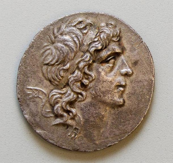 Mithradates VI Eupator en una moneda de plata del Ponto, del siglo II al I a. C. (Galería de Arte de la Universidad de Yale)