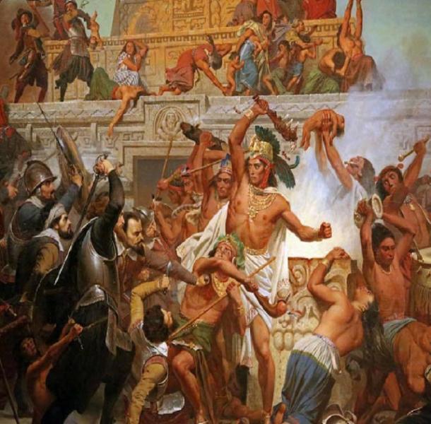Moctezuma capturado por Cortés. (Imágenes históricas / Dominio público)
