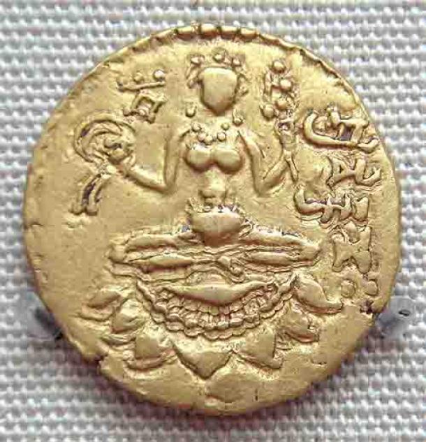 Moneda del Imperio Gupta, que data del 380-415 d.C., que representa a Lakshmi. (Uploadalt / CC BY-SA 3.0)