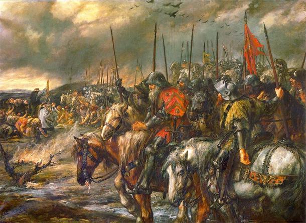 La mañana de la batalla de Agincourt. (Hohum / Dominio público)