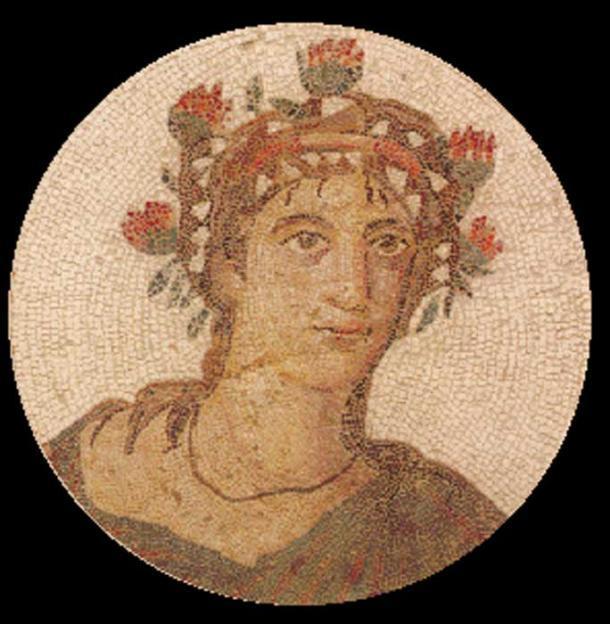 Mosaico que representa a un hombre etiquetado como el gourmand Marcus GaviusApicius. (El Monasterio)