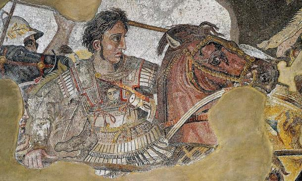 Un mosaico de Alejandro Magno en la batalla de la Casa del Fauno, Pompeya, Italia. (Dominio público)