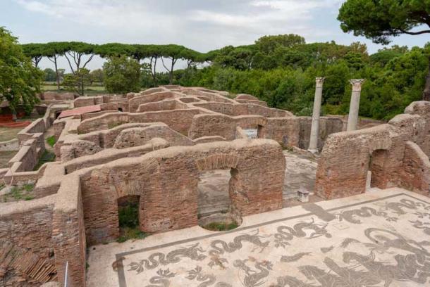 Los mosaicos cubrieron los pisos de los edificios de Ostia Antica. (Ioannis Syrigos)