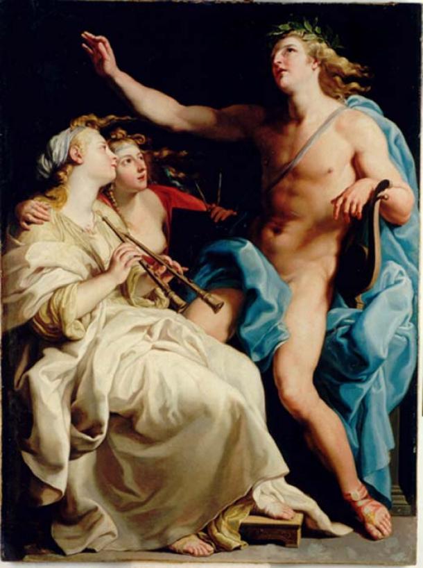 Apolo y dos musas (Pompeo Batoni / Dominio público)