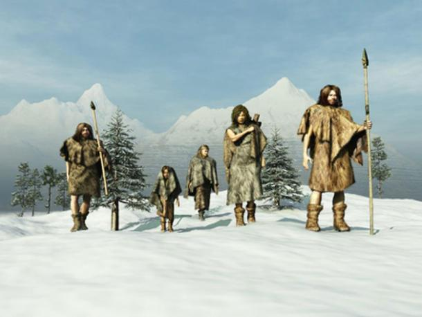 Neandertales en la Edad de Hielo. (anibal Adobe Stock)