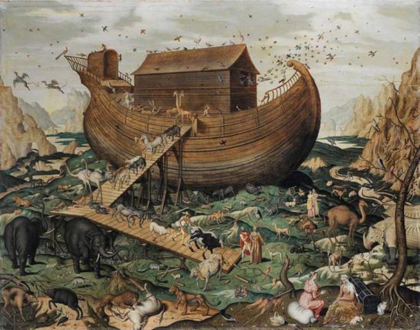 'El arca de Noé en el monte Ararat' (1570) de Simon de Myle. (Dominio público)