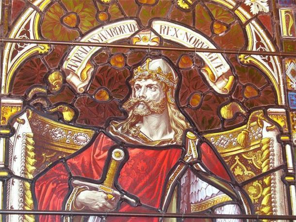 El rey noruego Harald Hardrada (Harald III.) En la catedral de Kirkwall. (Colin Smith / CC BY SA 2.0)