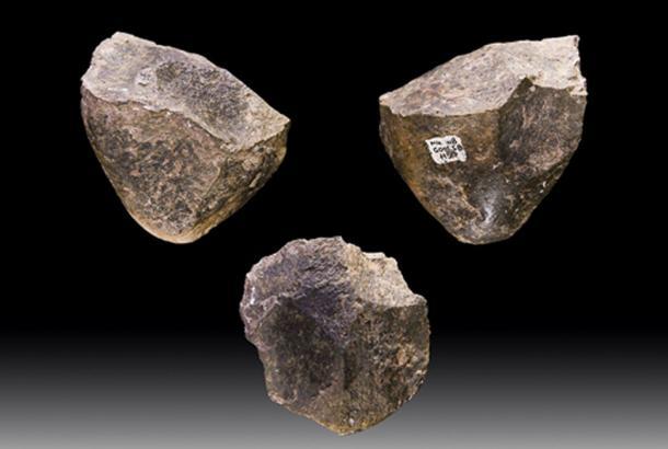 Picadores Oldowan, herramientas de piedra que datan de 1.7 millones de años AC, de Melka Kunture, Etiopía. (Archaeodontosaurus / CC BY-SA 4.0)