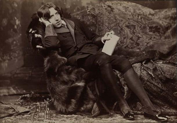 Oscar Wilde retrato de Napoleón Sarony. ( Dominio público )
