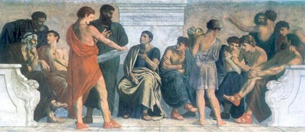 Una pintura que representa la escuela de Aristóteles. (Gustav Spangenberg / Dominio público)