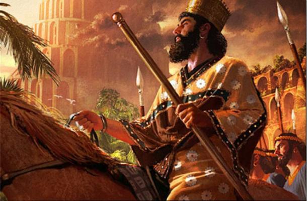 Una pintura de Ciro el Grande al entrar en Babilonia (Mani-Persepolis.nu).