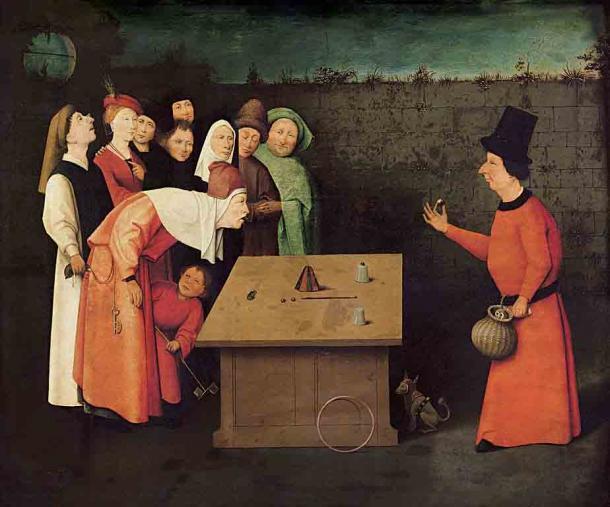 Pintura al óleo sobre madera del pintor holandés temprano Hieronmymus Bosch que data de aproximadamente 1502. (Dominio público)