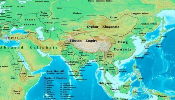 El Imperio Pala en 800 DC (CC BY 3.0)