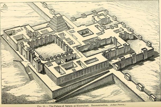 Palacio de Sargón II en la ciudad perdida de Dur-Sharrukin. (SteinsplitterBot / Public Domain)