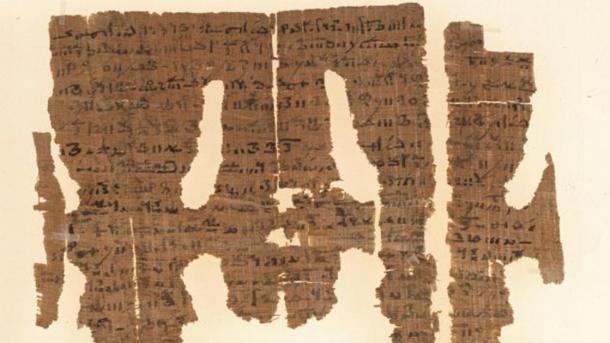 Parte del papiro con el hechizo de unión erótica. (Universidad de Michigan)
