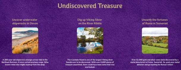 Parte de la campaña los tesoros de Cadbury, que fomenta la detección de metales sin licencia. (Cadbury)