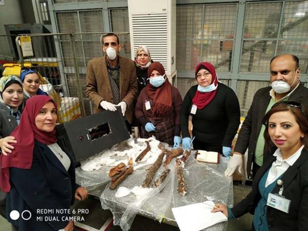 Actualmente no está claro dónde el contrabandista obtuvo las partes de la momia que fueron confiscadas. (Ministerio de Antigüedades)
