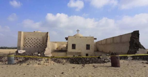 Tres personas perdieron la vida en el colapso parcial del Monasterio de Saint Fana. (Youssef Sidhom.)