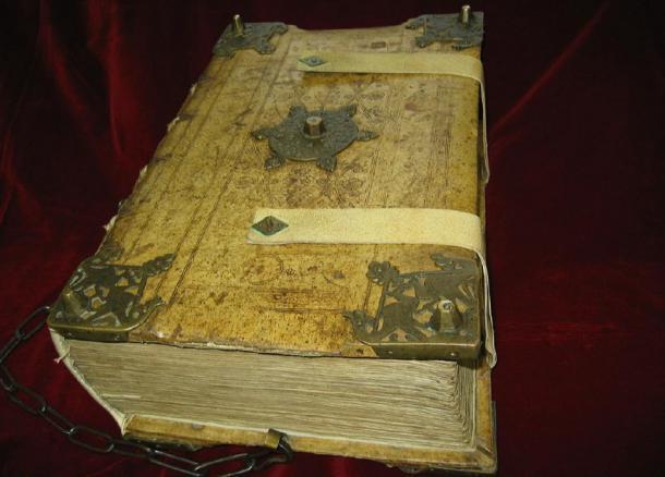 Fotografía del manuscrito medieval del siglo XII'Riesencodex'. (Magnus Manske / CC BY-SA 3.0)