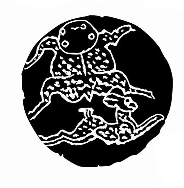 Relieve de piedra pictórico con simbolismo de liebre relacionado con la Luna descubierta en una tumba de la dinastía Han (92 DC) en Yulin. (P. Sheng / Antiquity Publications Ltd)
