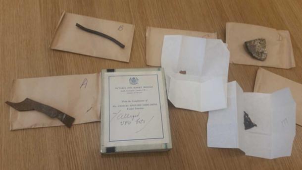 Se dice que las piezas son de los restos del ovni Silpho encontrado en 1957. (Dr. David Clarke / Sheffield Hallam University)