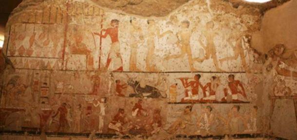 Pinturas de las tumbas en la cámara de Hetpet. Ministerio de Antigüedades de Egipto.