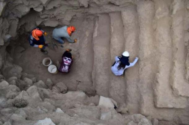 La pirámide peruana recién encontrada consiste en una serie de pasos. (Andina)