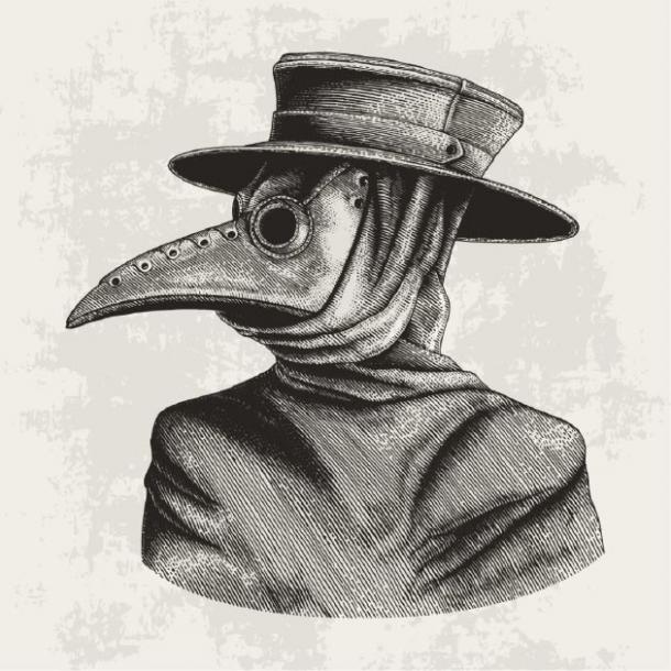 Un médico de la peste en su vestimenta típica. (channarongsds/ Adobe Stock)