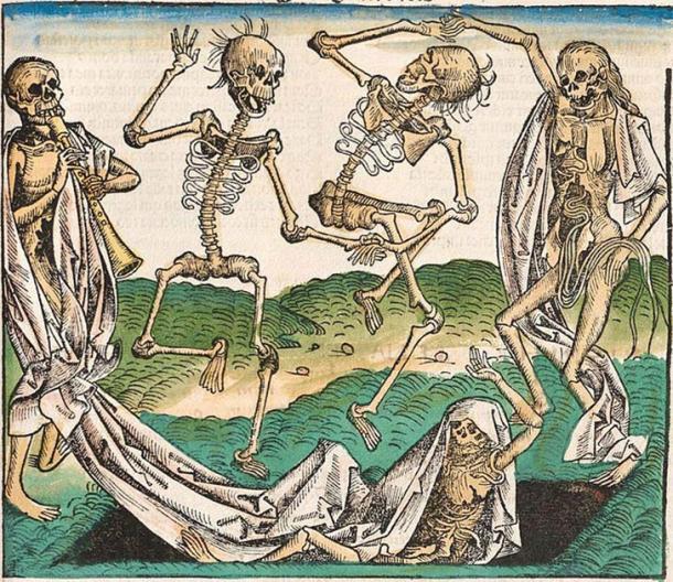 En un momento en que la plaga se extendía por Europa y mataba a millones, la gente comenzó a temer que las víctimas de la plaga pudieran regresar para perseguir a los vivos. Imagen de la Crónica de Nuremberg, una enciclopedia ilustrada terminada en 1493. (Dominio público)