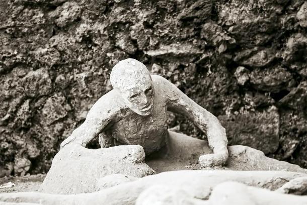 Yeso de una antigua Pompeya que fue víctima de la erupción del Monte Vesubio en el año 79 DC. (BlackMac/ Adobe)