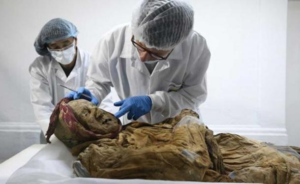 Charlier estaba gratamente sorprendido por el estado bien conservado de la momia. (EFE / José Jácome)