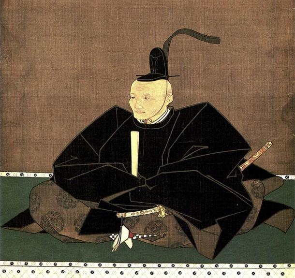 Un retrato de 1644 de Tadatoshi Hosokawa, quien encargó el último lote de vino japonés. (日本語: 矢野 吉 重(大 渕 玄 弘 賛)Inglés: Yano Yoshishige (Inscripción de Ōbuchi Genkō) / Dominio público)