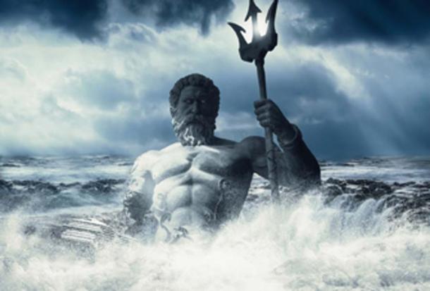 Poseidón - dios del mar. (intrografía / dominio público)