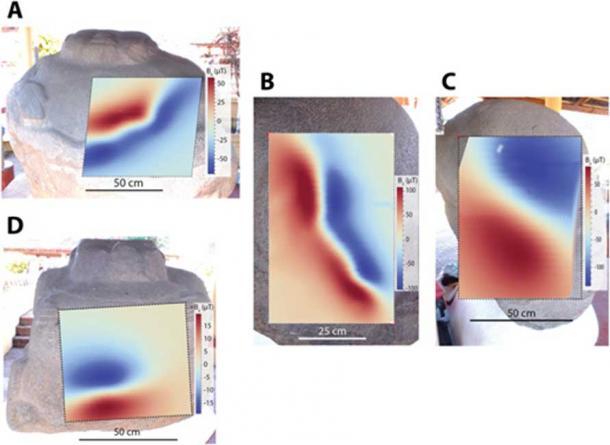 "Anomalías magnéticas en ""Potbellies"" en Monte Alto (Roger R. Fu et al. 2019)"