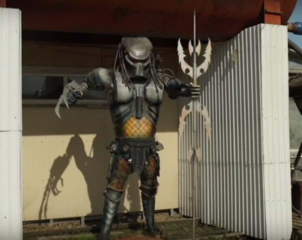 Escultura de depredador. (Captura de pantalla de YouTube / ODN )