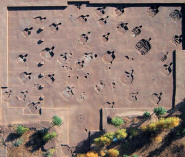 El asentamiento prehistórico de Hamin Manga estaba dispuesto de una manera ordenada.