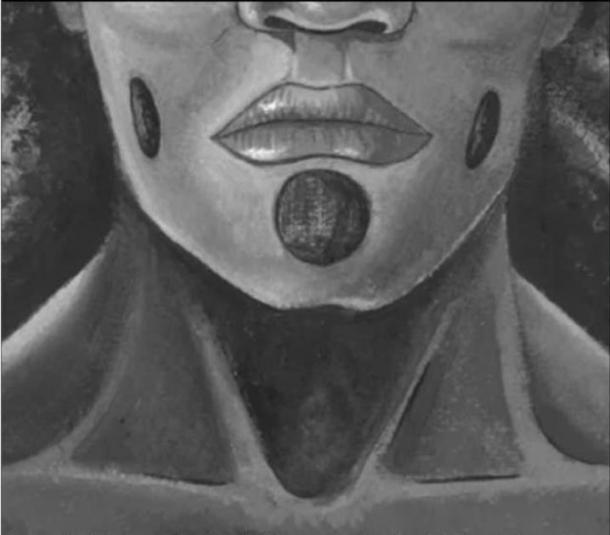 Los piercings faciales propuestos. (Lou-Octavia Mørch)