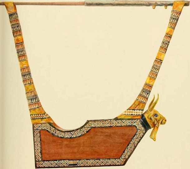 La lira de la reina, del registro publicado de Woolley sobre el descubrimiento. (Sin derechos de autor conocidos / The Commons)