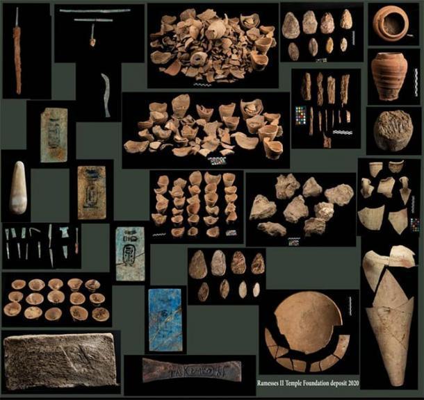 Depósito de la fundación del templo Ramsés II. (Ministerio de Antigüedades de Egipto)