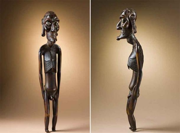 Figura del antepasado Rapa Nui (moai kavakava). (Dominio público)