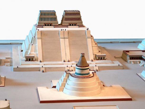 Reconstrucción del Templo Mayor de Tenochtitlan donde los expertos pueden haber encontrado un Real Entierro Azteca. (Joyborg / CC BY-SA 3.0)