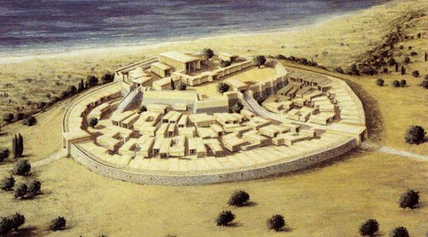 Reconstrucción de la ciudadela de Arkaim, Rusia. (Reydekish)