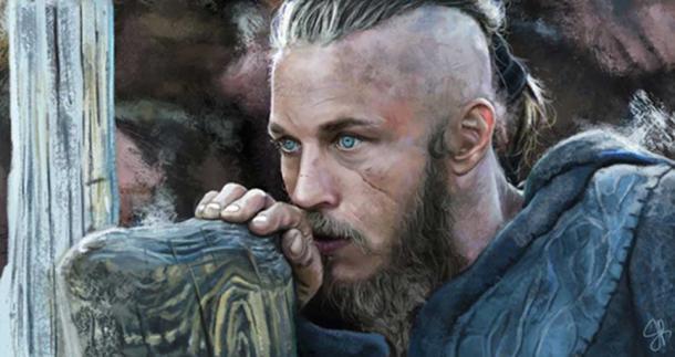 Representación artística de Ragnar Lothbrok. Fuente: jere0020 / Deviant Art