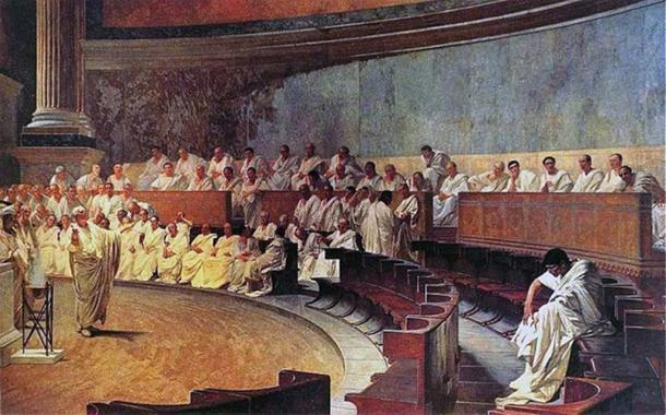 Representación de una sesión del senado romano. (Palazzo Madama / Dominio público)