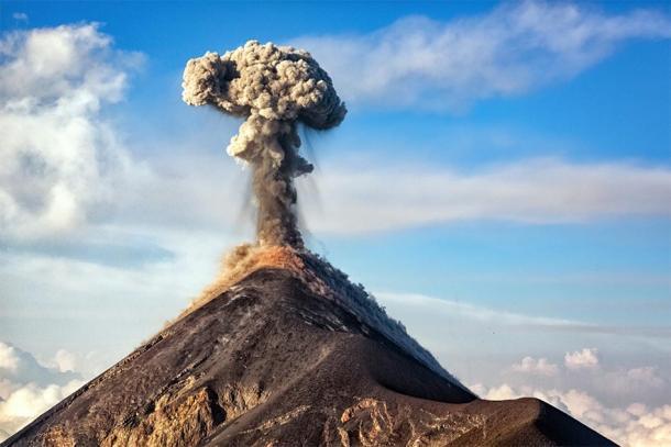 Representación de un volcán en erupción. (Ingo Bartussek/ Adobe stock)
